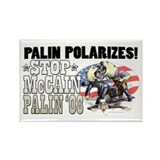 Palin Polarizes Rectangle Magnet (10 pack)