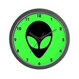 Alien Head Design 3 Wall Clock