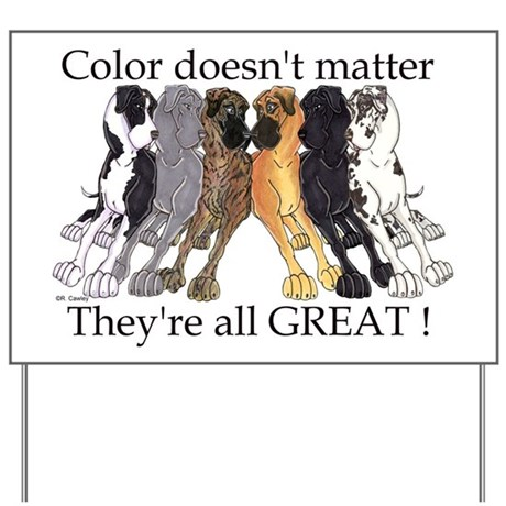 N6 Color Doesn't Matter Yard Sign