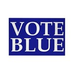 Vote Blue Rectangular Fridge Magnet