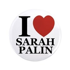 "I Love Palin 3.5"" Button (100 pack)"