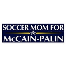 Soccer Mom for McCain Palin Bumper Bumper Sticker