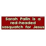 Sarah Palin red headed sasquatch for Jesus
