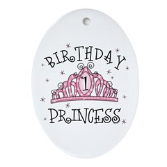 Tiara Birthday Princess 1st Oval Ornament
