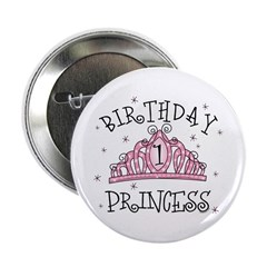 "Tiara Birthday Princess 1st 2.25"" Button"