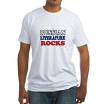 Russian Lit Rocks Fitted T-Shirt