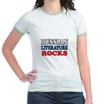 Russian Lit Rocks Jr. Ringer T-Shirt