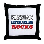 Russian Lit Rocks Throw Pillow