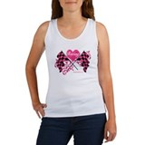 Pink Racing Flags Women's Tank Top