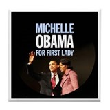 Michelle Obama For First Lady 038 Tile Coaster