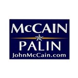 McCain / Palin Official Logo Rectangle Magnet