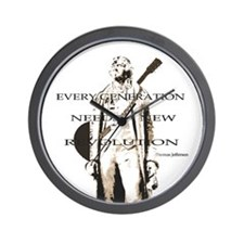 Thomas Jefferson Revolution Wall Clock