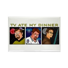 TV Ate My Dinner Rectangle Magnet (10 pack)