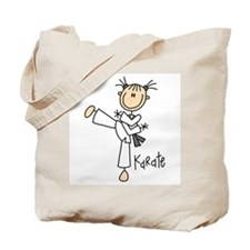 Stick Figure Karate Tote Bag