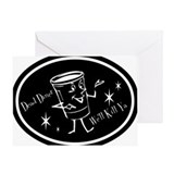 B&W Neg- Dead Diner Greeting Card