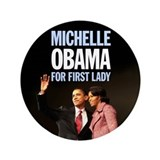 First Lady Michelle Obama 3.5&amp;quot; Button