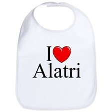 """I Love (Heart) Alatri"" Bib"
