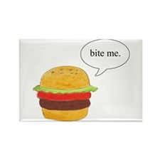 Bite Me Burger Rectangle Magnet (10 pack)
