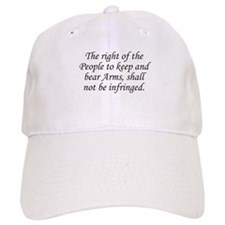 2nd Amend. / White Baseball Cap
