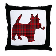 Scottish Terrier Tartan Throw Pillow