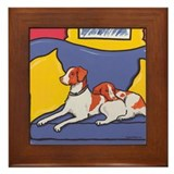 Brittany Spaniel Dog Framed Tile