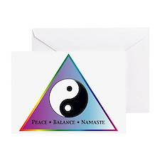 Peace, Balance, Namaste Greeting Card