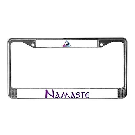 Peace, Balance, Namaste License Plate Frame