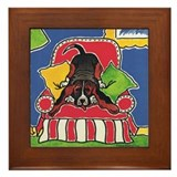 All Ears Basset Hound Framed Tile
