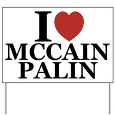 I Luv McCain Palin Yard Sign