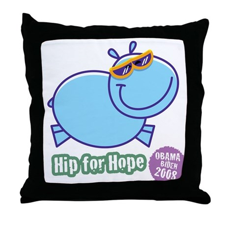 Hip for Hope Throw Pillow