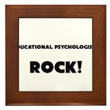 Educational Psychologists ROCK Framed Tile