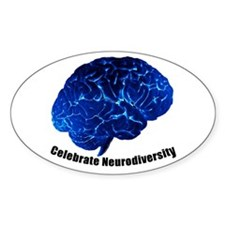 Celebrate Neurodiversity Oval Sticker (10 pk)