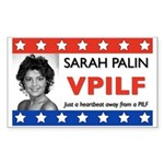 Sarah Palin Heartbeat Rectangle Sticker
