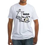 Moo Cow Fitted T-Shirt