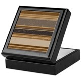 Cocoa Stripes Keepsake Box