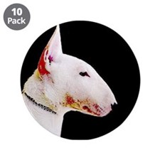 "Bull terrier 3.5"" Button (10 pack)"