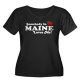 Somebody in Maine Loves Me Women's Plus Size Scoop