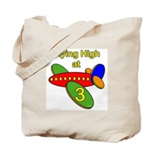 Airplane 3rd Birthday Tote Bag