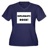 Diplomatologists ROCK Women's Plus Size V-Neck Dar
