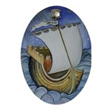 St. Brendan the Navigator Oval Ornament