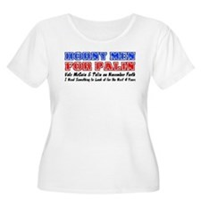 Horny men for Palin Women's Plus Size Scoop Neck T