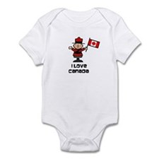 I Love Canada Mountie Infant Bodysuit