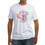 Altay China Map Fitted T-Shirt