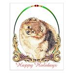 Pomeranian Pom Holiday Small Poster