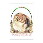 Pomeranian Pom Holiday Mini Poster Print