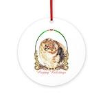 Pomeranian Pom Holiday Keepsake (Round)