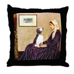 WMom / Beagle (#2) Throw Pillow