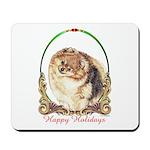 Pomeranian Pom Holiday Mousepad