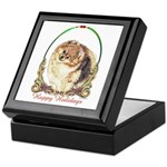 Pomeranian Pom Holiday Keepsake Box
