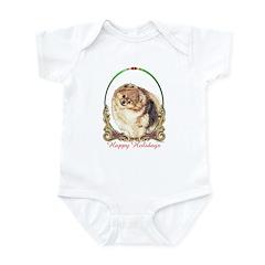 Pomeranian Pom Holiday Infant Creeper